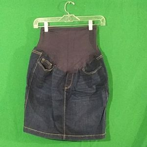 Old navy medium denim maternity skirt
